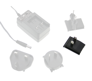 US AC Plug for GE Series Interchangeable Plugtop Adapters from Meanwell