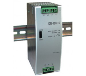 Mean Well DR-120-12 120W 12V 10A  Single Output AC-DC DIN RAIL Power Supply from power Supplies Online