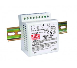 DR-4524 24V 2A Single Output AC-DC DIN RAIL Power Supply