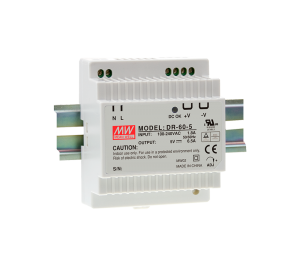 Mean Well DR-60-5 32.5W 5V 6.5A Single Output AC-DC DIN RAIL Power Supply from Power Supplies Online