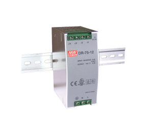 Mean Well DR-75-24 76.8W 24V 3.2A  Single Output AC-DC DIN RAIL Power Supply from Power Supplies Online