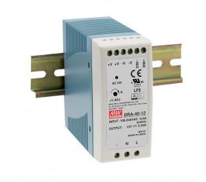 DRA-40-12 40.08W 12V 3.34A Din Rail Power Supply