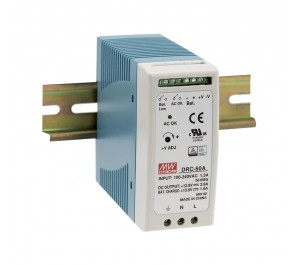 DRC-60A 59.34W Din Rail Power Supply with Battery Charger (UPS Function)