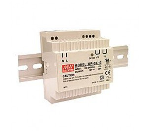 Mean Well DR-30-5 15W 5V 3A  Single Output AC-DC DIN RAIL Power Supply from Power Supplies Online