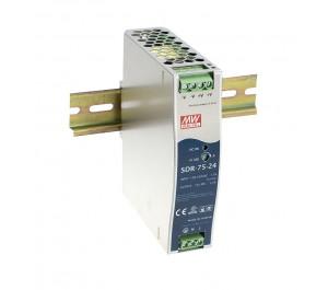 SDR-75-48 76.8W 48V 1.6A Industrial DIN RAIL Power Supply