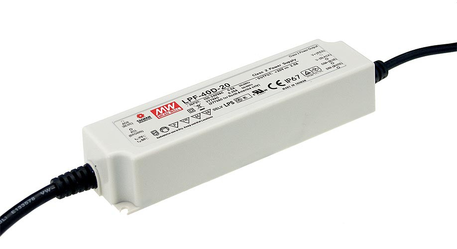40W 0.76A Meanwell LPF-40D-54 Power Supply Dimmable