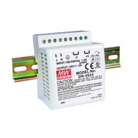Mean Well DR-4512  42W 12V 3.5A Single Output AC-DC DIN RAIL Power Supply  from Power Supplies Online