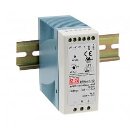DRA-40-24 40.8W 24V 1.7A Din Rail Power Supply