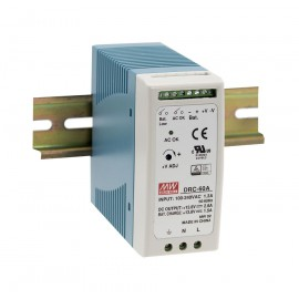 DRC-60B 59.34W Din Rail Power Supply with Battery Charger (UPS Function)
