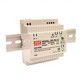 Mean Well DR-30-24 36W 24V 1.5A Single Output AC-DC DIN RAIL Power Supply from Power Supplies Online