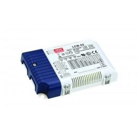 LCM-60 60.3W 2 ~ 90V 500 ~ 1400mA  LED Lighting Power Supply