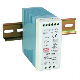 Mean Well MDR-40-24 40.8W 24V 1.7A Single Output AC-DC Din Rail Power Supply from Power Supplies Online