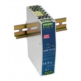 NDR-75-24 76.8W 24V 3.2A Industrial DIN RAIL Power Supply