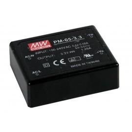 PM-05-3.3 4.125W 3.3V 1.25A Encapsulated Power Supply