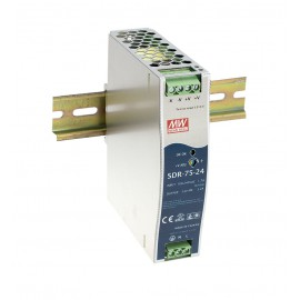SDR-75-24 76.8W 24V 3.2A Industrial DIN RAIL Power Supply