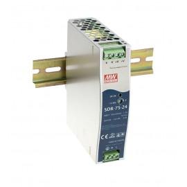 SDR-75-12 75.6W 12V 6.3A Industrial DIN RAIL Power Supply
